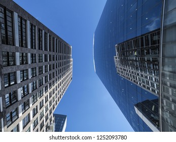 Reflective skyscrapers, business office buildings