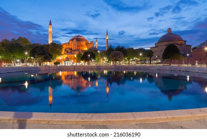 Reflecton of Ayasofya(Hagia sofia) inthe morning