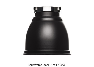 Reflector Bowl Light Modifier for Studio Lighting Strobes Flashes Flash with Bowens Mount. Reflector Bowl Light Shaping Attachment to Modify the Spread of Studio Lights. Clipping Path Included in JPEG