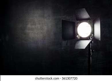 Reflector on the background wall of chalk