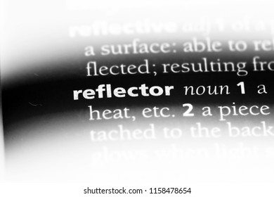 reflector word in a dictionary. reflector concept.