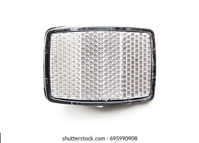The reflectors from the bike on a white background