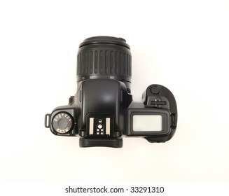 Reflex analog photo camera - upper view