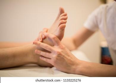Reflexology acupressure therapy