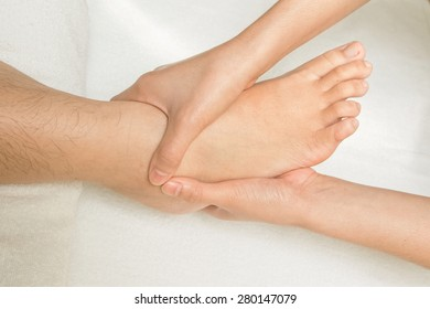 Reflexology foot massage