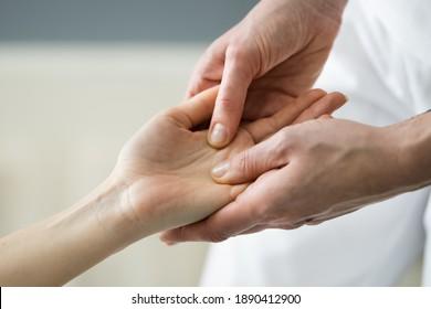 Reflexology Hand Massage And Palm Acupressure Physiotherapy