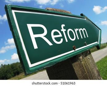REFORM road sign