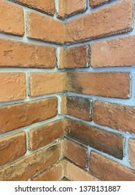 Refractory brick wall