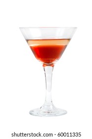 refreshing  cocktail isolated on white background,clipping Path