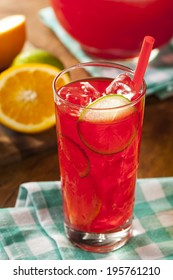 Refreshing Cold Fruit Punch with Berries and Oranges