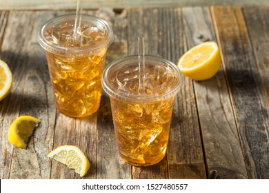 Refreshing Cold Iced Tea in a To Go Cup