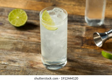 Refreshing Cold Tequila Ranch Water Cocktail with Lime