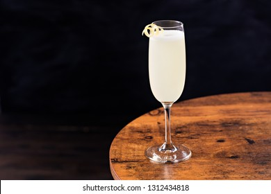 Refreshing French 75 Cocktail on a Table