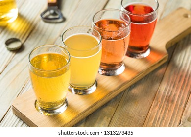 Refreshing Hard Cider Flight of Beers to Drink