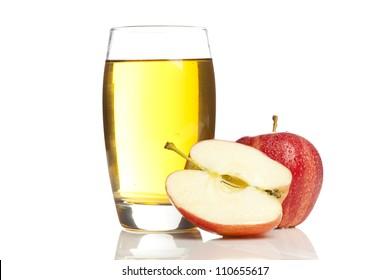 Refreshing Organic Apple Juice on a background