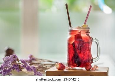 Refreshing sangria mix fruits