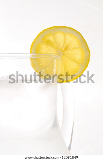 refreshing summer drink with a slice of lemon
