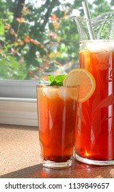 Refreshing summer non-alcoholic drink you can make at home and serve at your next outdoor dinner that adults and children will enjoy