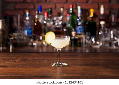 Refreshing Vodka Gimlet Cocktail on a Bar