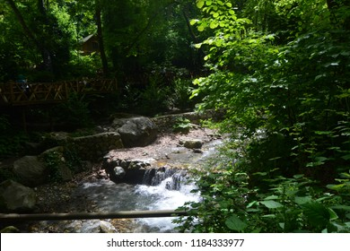 Refreshing water stream in Masukiye, Kocaeli, Turkey