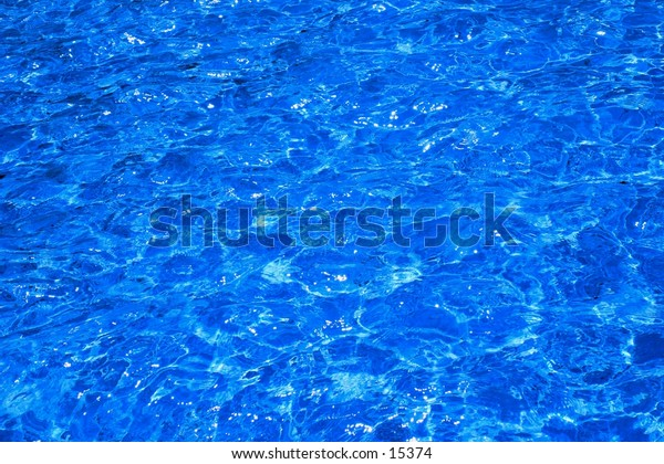Refreshingly blue water