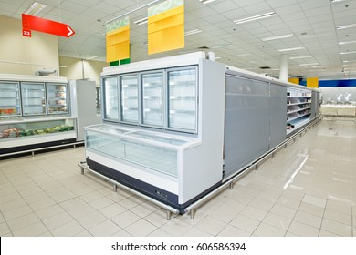 Refrigerated counter for food.