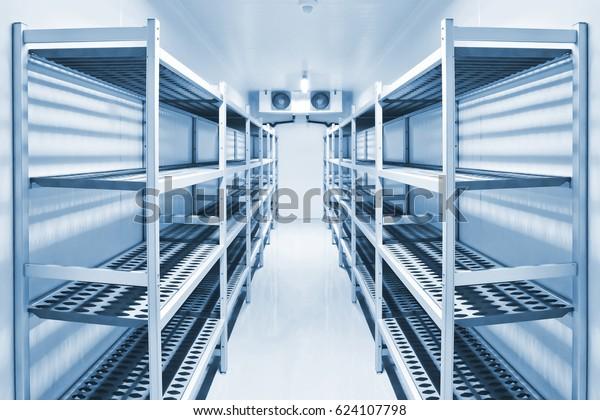 Kühlkammer für die Lagerung von Lebensmitteln..