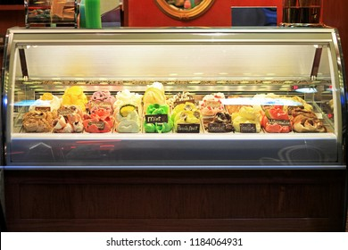 Refrigerator With Big Varaity of Ice Cream Flavours