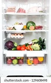 Refrigerator Full of Healthy Food Options