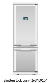 refrigerator for home use illustration isolated on white background