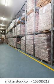 Refrigerator- huge warehouse with a frozen meat