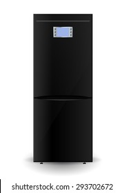 Refrigerator. Illustration isolated on white background. Raster version