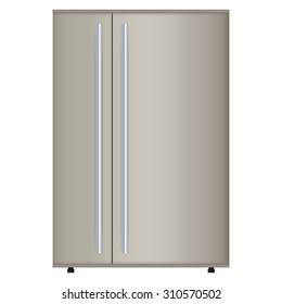 Refrigerator. Illustration on white background. Raster version.