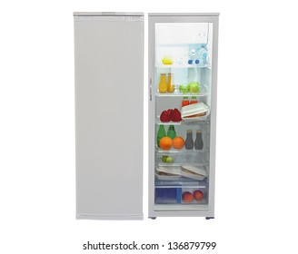 refrigerator isolated under the white background