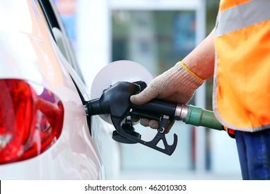Refuel car with petrol