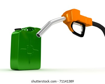 Refuel station pump over white background. computer generated image