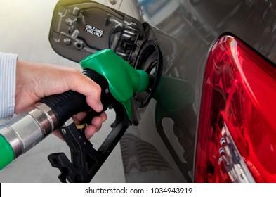Refueling on petrol station