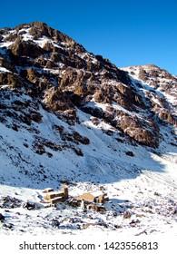 Refuge de Toubkal in the Atlas mountains of Morocco