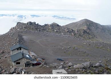 Refuge on Cayambe Volcano, Ecuador