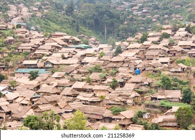 Refugee camp in north of thailand