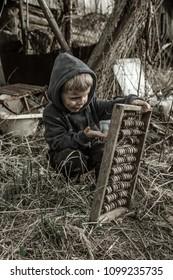 A refugee child. War.