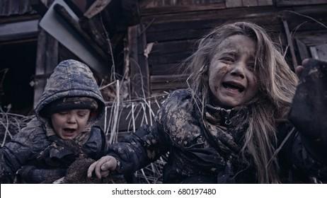 Refugee children.