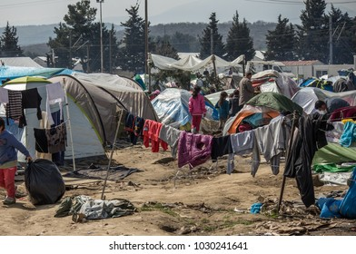Refugees fleeing wars (mainly from Syria, Afghanistan and Iraq) living in camps in Greece, photo taken in Idomeni and Athens, in March 2016.