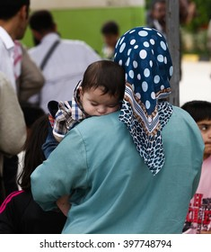 refugees who took refuge in Turkey,  escape the war in Syria. Hate, Turkey, 12 October 2014