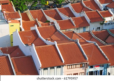 Refurbished Old Houses  In Singapore With New Roof Tiles