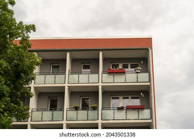 refurbished prefabricated building in the city