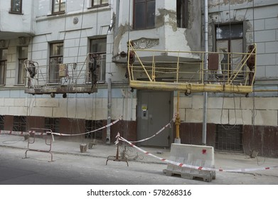 REFURBISHMENT WORK ON OLD APARTMENT BUILDING MOSCOW RUSSIA