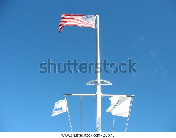 regatta flags in the wind