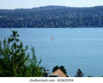 Regatta on the lake of Zurich, Switzerland