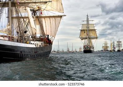 Regatta sailing ships. Tall Ships. Yachting and Sailing. Cruises. Luxury holidays